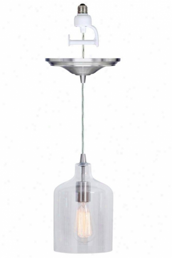 """ryder Instant Pendant Light Conversion Kit - 9.5""""dx6""""h, Clear"""