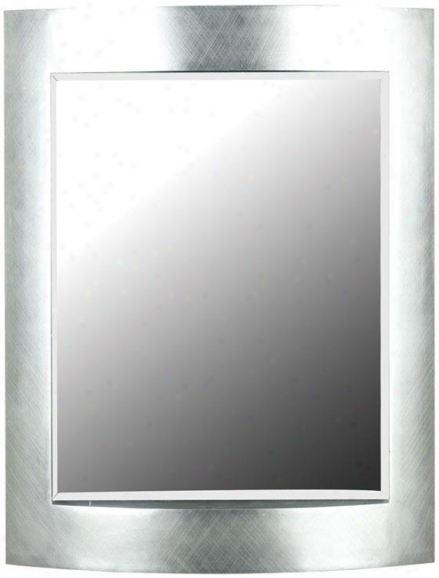 """sacramento Wall Mirror - 35""""hx28""""""w, Silver"""