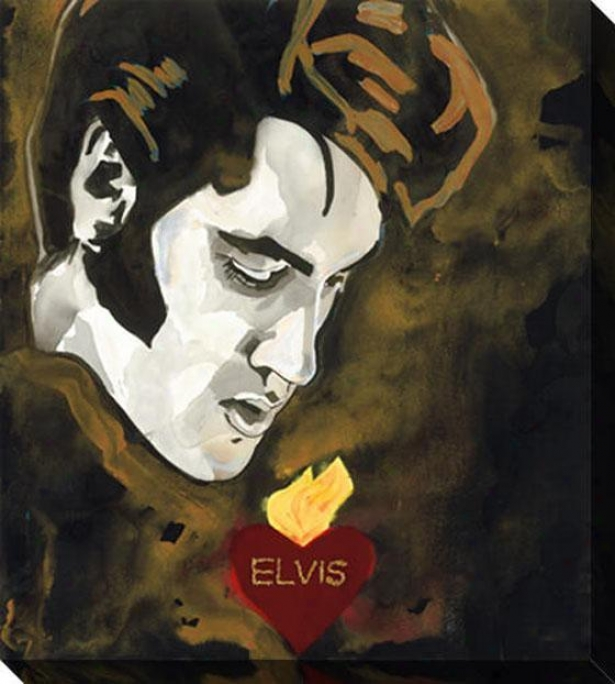 """sacred Heart Canvas Wall Cunning - 36""""hx48""""w, Elvis"""