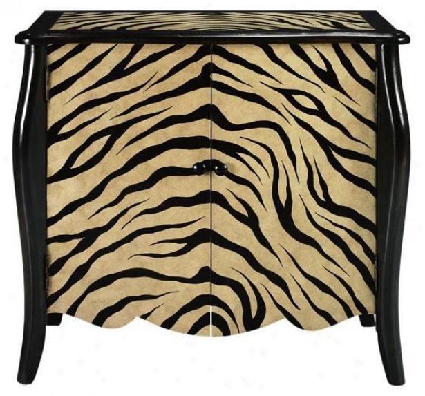 """""""safari Cabinet - 34.25""""""""hx36.5""""""""w, Zebra Blk/tan"""""""