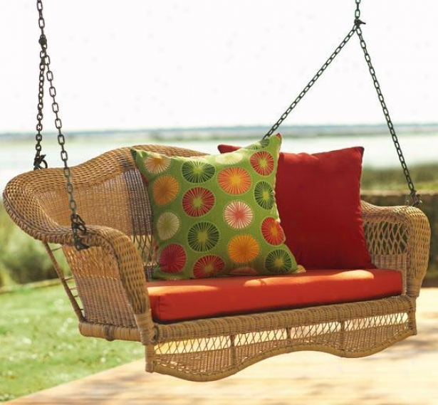 """sahara Hanging Porch Swing - 20""""h X 58""""w, Ivory"""