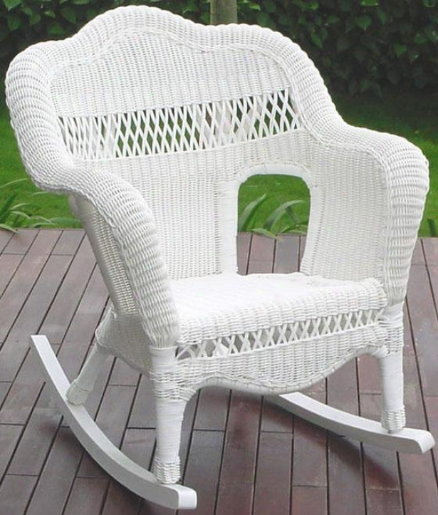 """sahara Outdoor Rocking Chair - 35""""hx18""""w, White"""