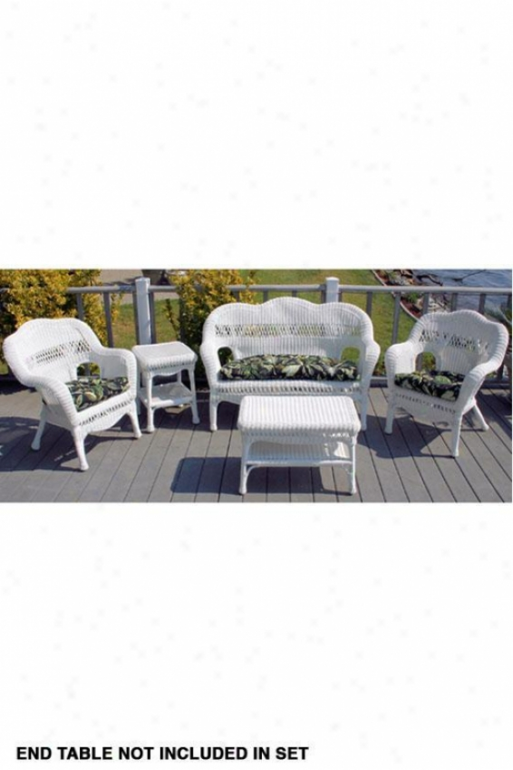 Sahara Patio Set - 4piece, White