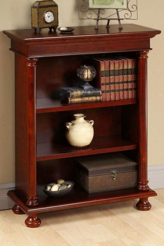 Salem Three-shelf Bookcase - Three-shelf, Brown Cherry Wood