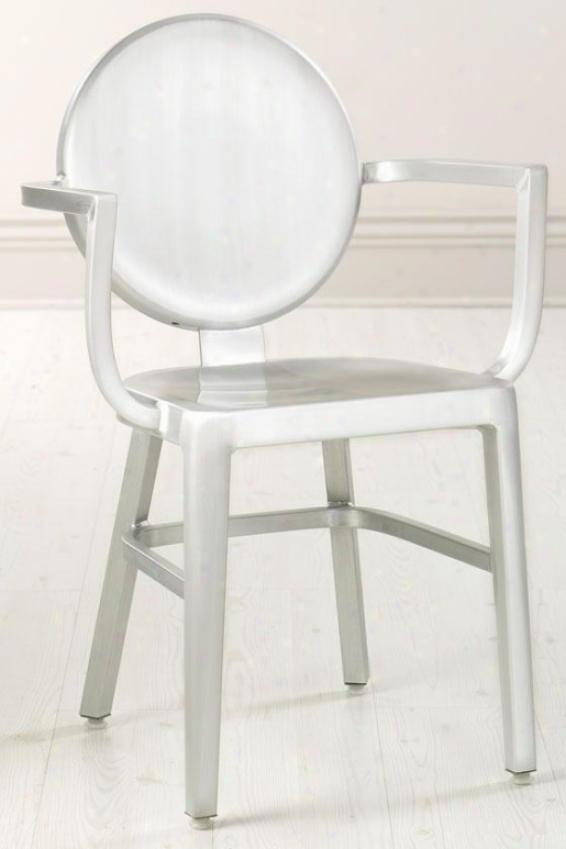 """""""samantha 33""""""""h Arm Chair - 33""""""""hx21.5""""""""w, Aluminum"""""""