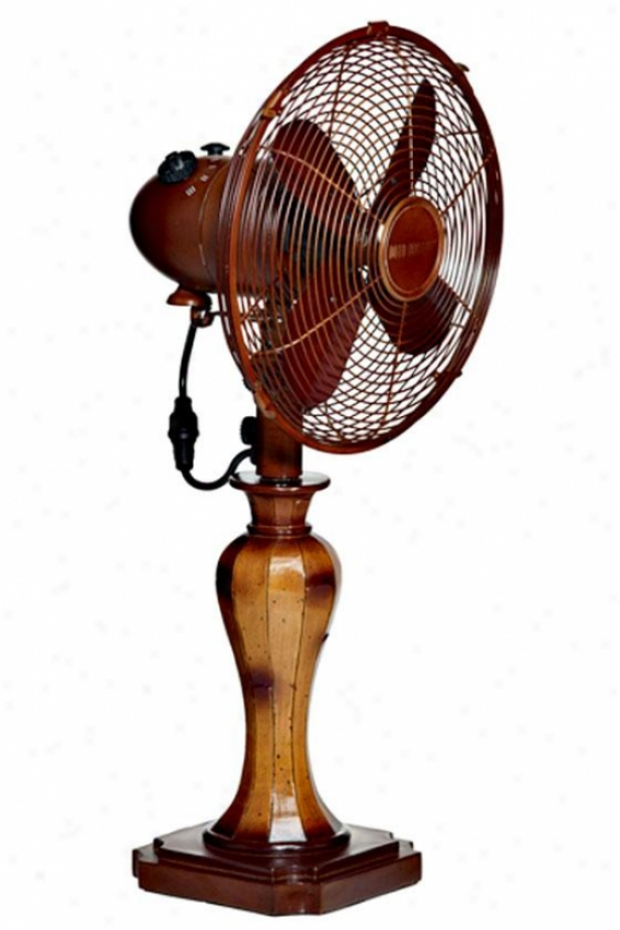 """sambuca Oscillatjng Fan - Table 10""""d, Brown"""