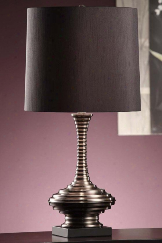 """sanchez Tqble Lamp In Black Nickel And Black Finidh - 27.5""""h, Black"""
