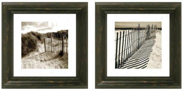 Sand Dunes Framed Wall Art - Set Of 2 - Set Of Two, Black