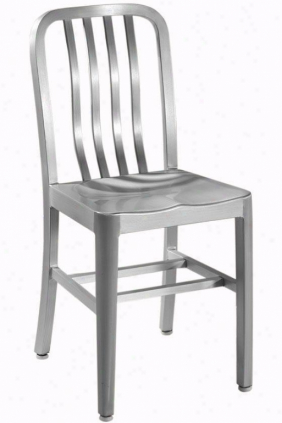 Sandra Side Chair With Aluminum Seat - Metsl Seat, Aluminum