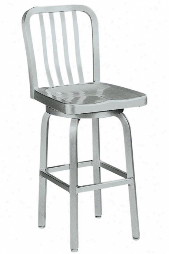 Sandra Swivel Counter Stool With Aluminum Seat - Swviel/metal, Aluminum