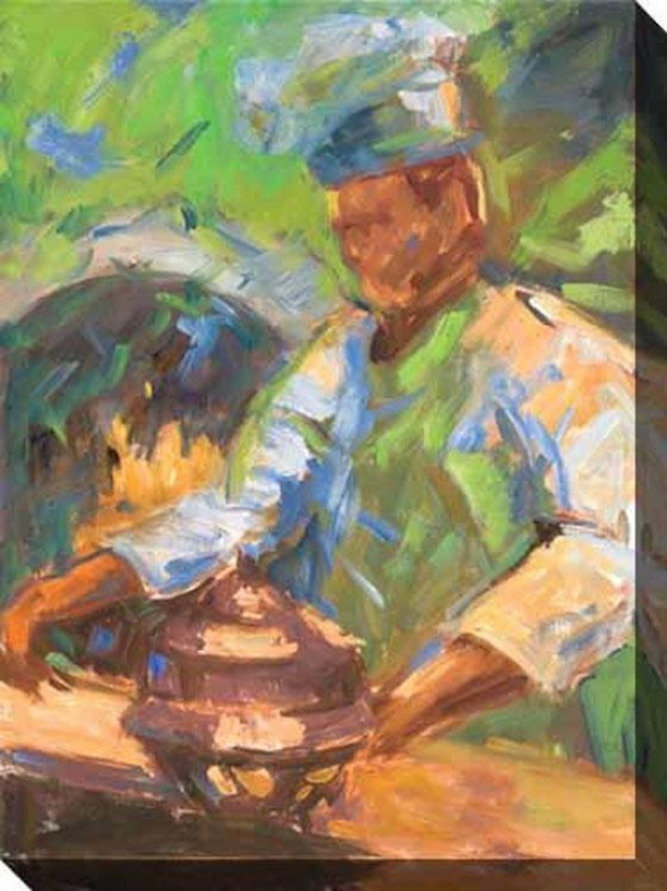Saturday Night Ii Canvas Wlal Art - Ii, Green