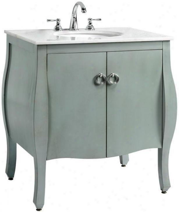 """savoy Bathroom Vanity  -35""""hx31""""w, Blue"""