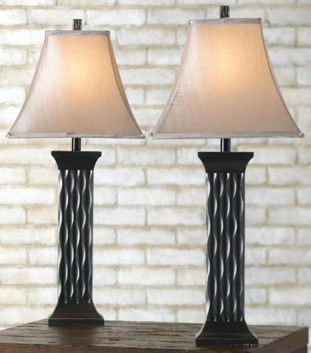 """""""echaeffer Table Lamp - Set Of 2 - 29""""""""h, Back"""""""