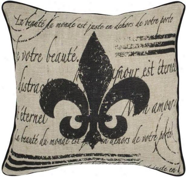 """scroll Decorative Pillow - 18""""x18"""", Ivory"""