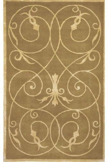 """scrolls Rug Design - 7'9"""" Octagon, Brown"""