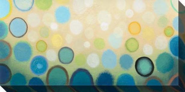 Sea Mist Ii Canvas Wall Art - Ii, Blue