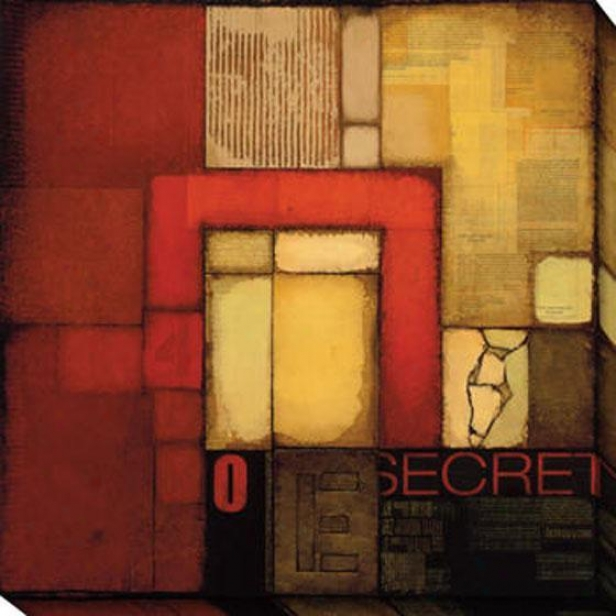 Secret Letter I Canvas Wall Creation of beauty - I, Red