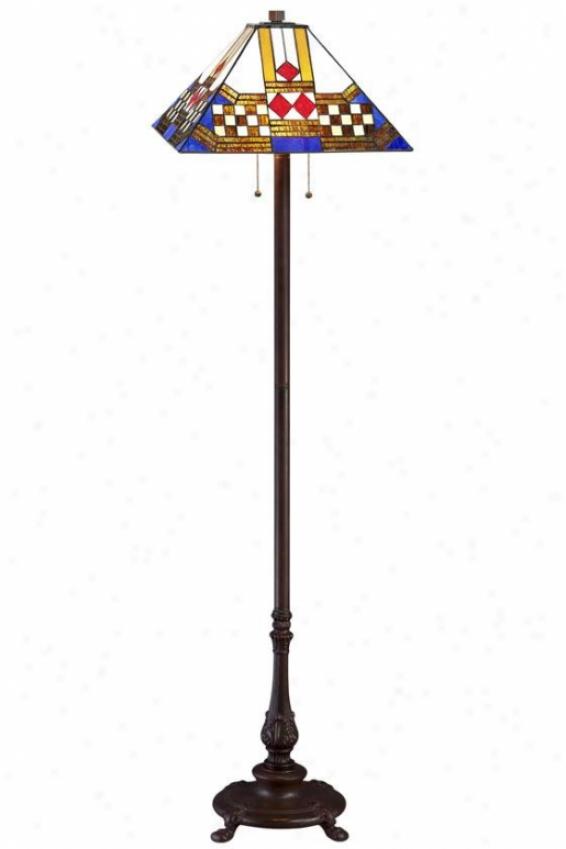 Sedona Tiffany-style Floor Lamp - Floor Lamp, Brown