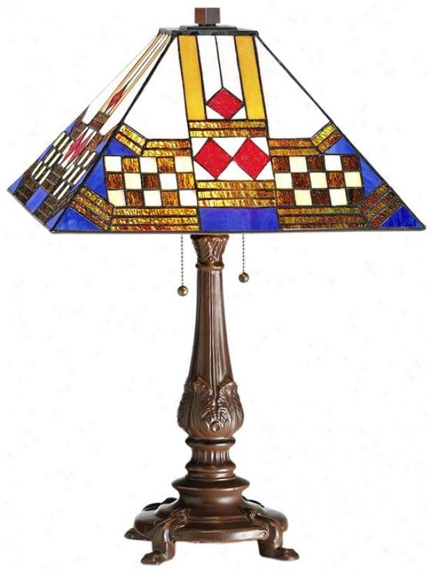 Sedona Tiffany-style Table Lamp - Table Lamp, Brown