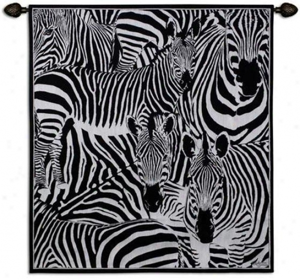 """seeing Stripes Tapestry - 47""""hx53"""", Black"""