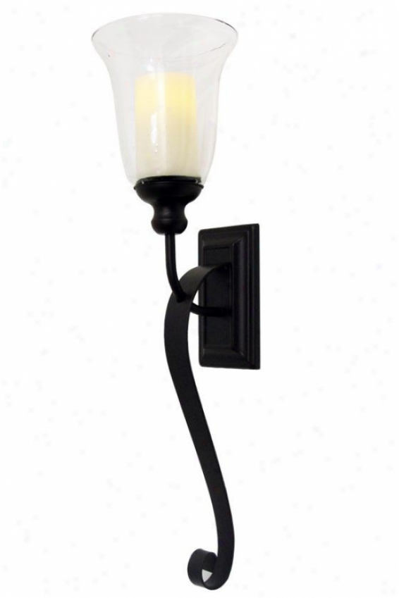 """serafina Flameless Wall Sconce - 27h X 4w X 4""""d, Oil Rub Bronze"""