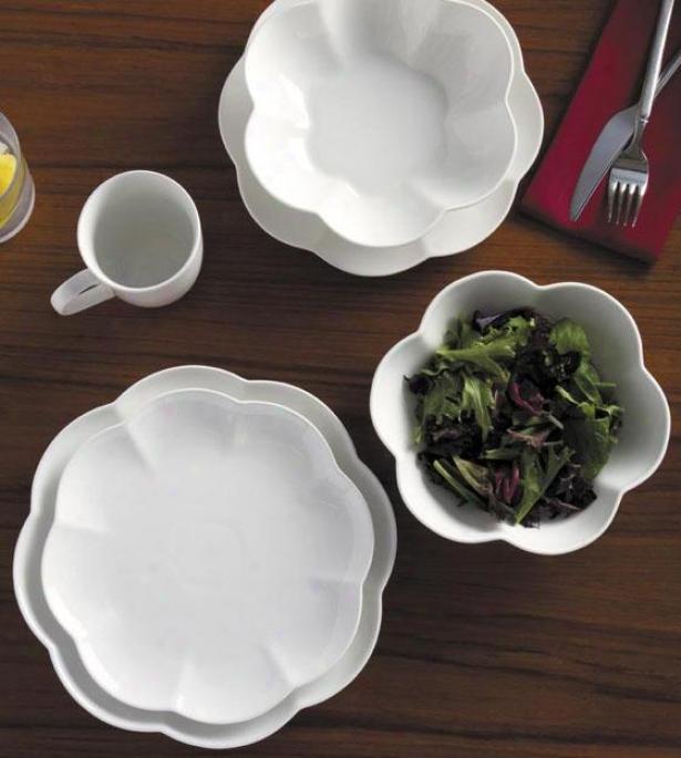 Serendra 16-piece Dinnerware Set - 16 Piece Set, White