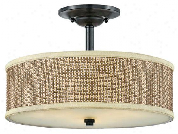 Serenity Semi-flush Mount - 3-light/smi Fls, Black