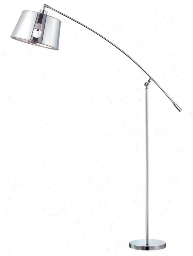 """setay Floor Lamp - 99""""h X 64""""w, Silver Chrome"""