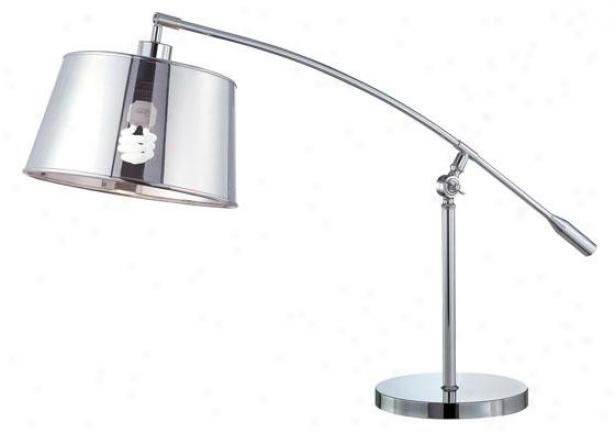 """""""setay Table Lamp - 24""""""""h X 37""""""""w, Silver Chrome"""""""