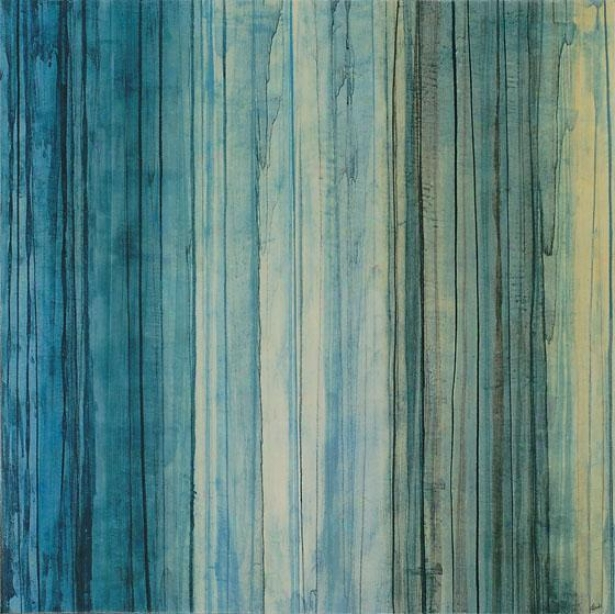 """shades Of Pale Wall Art - 29""""square, Blue"""