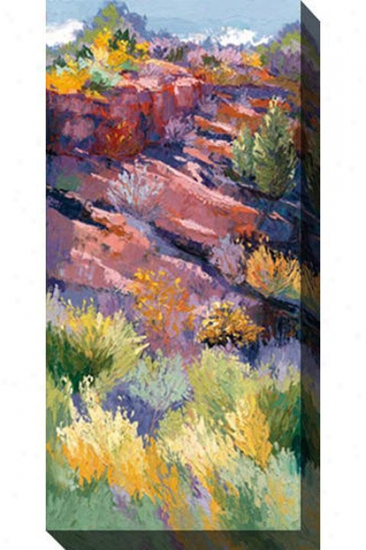 Shadows On The Hill I Canvas Wall Art - I, Pastel