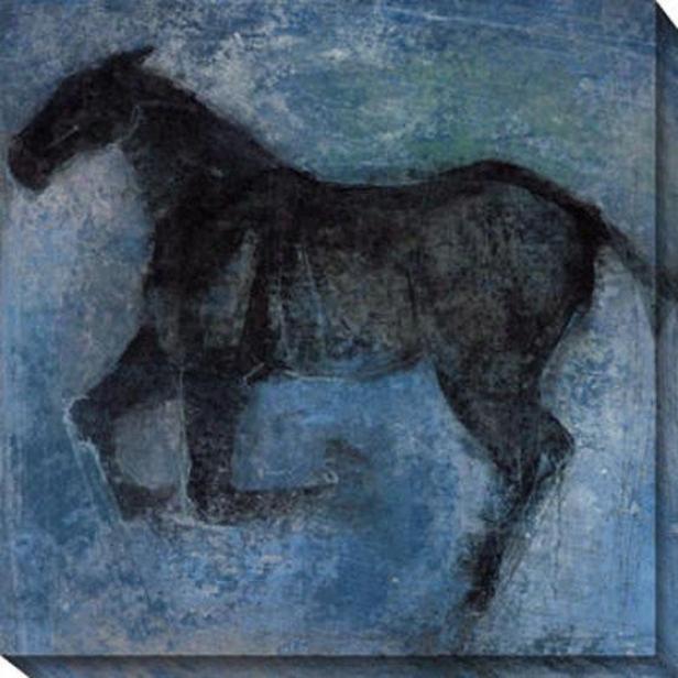 Shagya I Canvas Wall Art - I, Blue