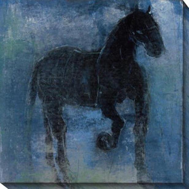 Shagya Ii Canvas Wall Art - Ii, Blue
