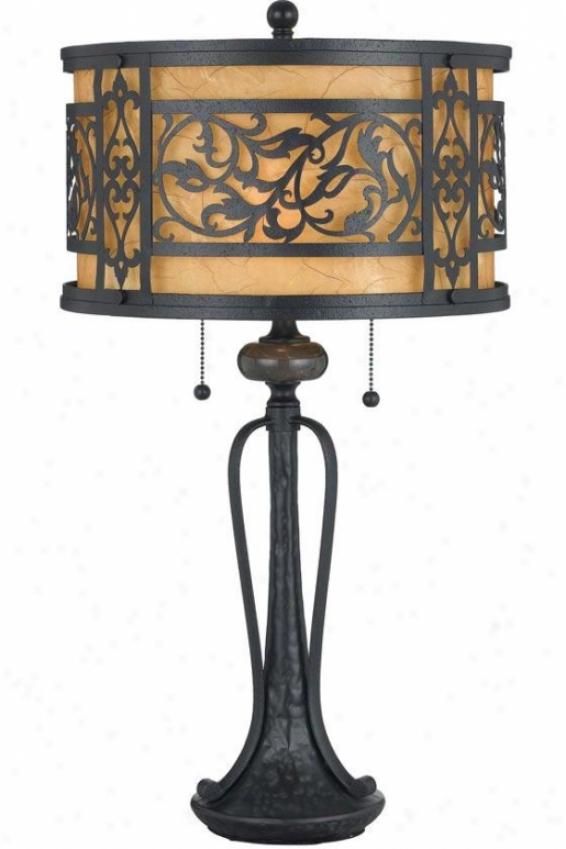 """shani Table Lamp - 28.5""""h, Black"""