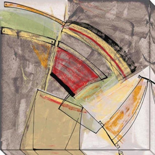 """""""shapeless Fragments Canvas Wall Art - 40""""""""hx40""""""""w, Multi"""""""
