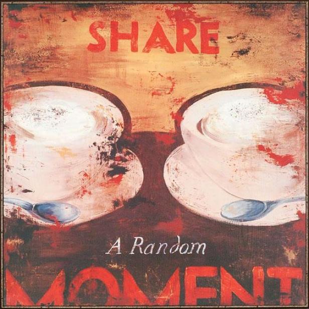 """share A Random Moment Wall Art - 38""""squarex3""""d, Red"""