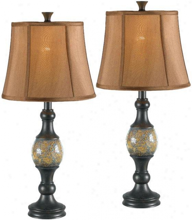 """shay Table Lamp - Set Of 2 - 29""""h, Bronze"""