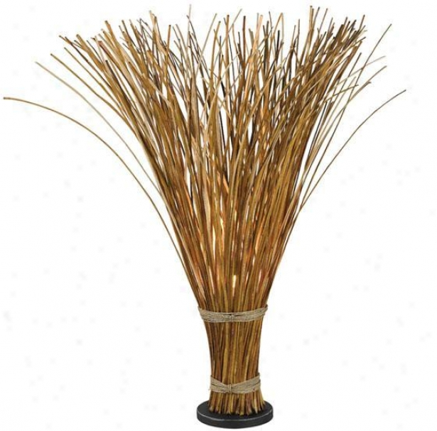 """sheaf Floor Lamp - 46""""h, Unaffected Reed"""