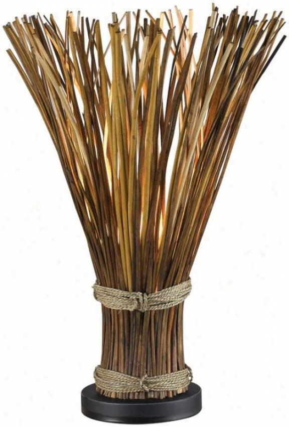 """sheaf Table Lamp - 25""""h, Natural Reed"""