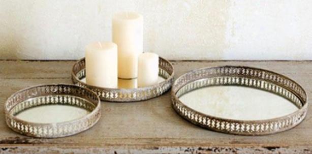 Sherwood Mirrored Trays - Set Of 3 - Set Of Three, Gold