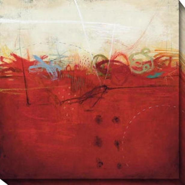Shifting Sand I Canvas Wall Art - I, Red