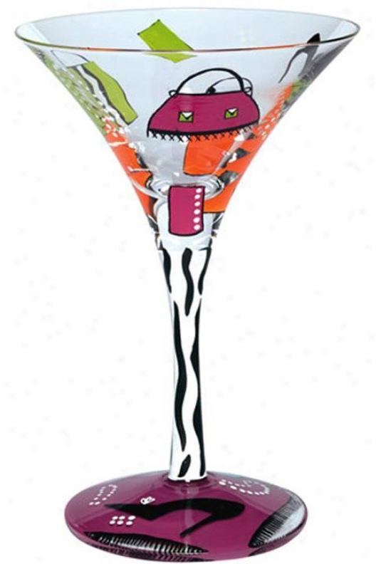 Shopaholic Too Theme Martini Glass - One Size, Shopaholic Too