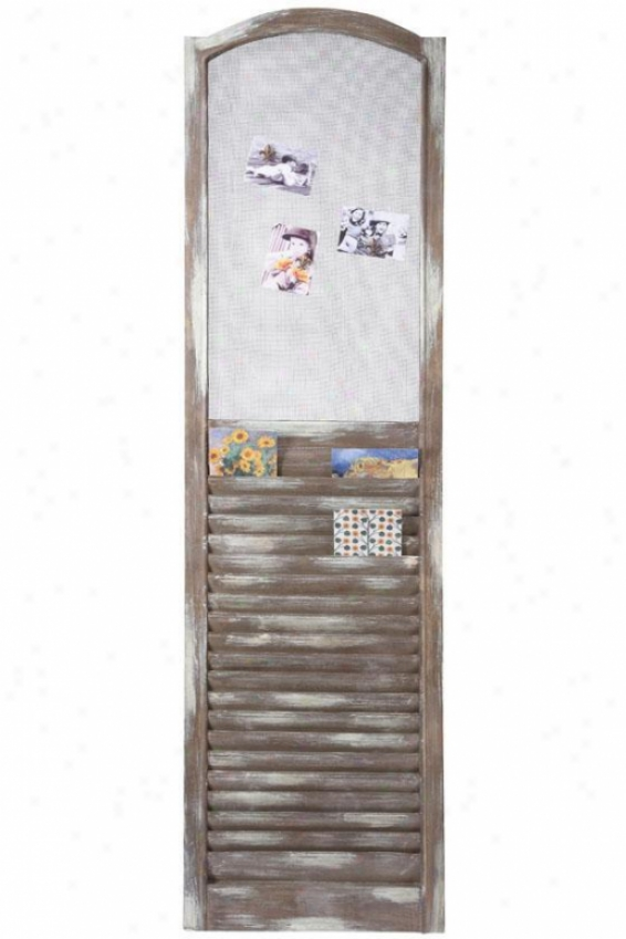 Shutter Memoboard - 19x68, Brown