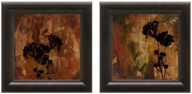 Sienna Framed Wall Art - Set Of 2 - Set Of Two, Brown
