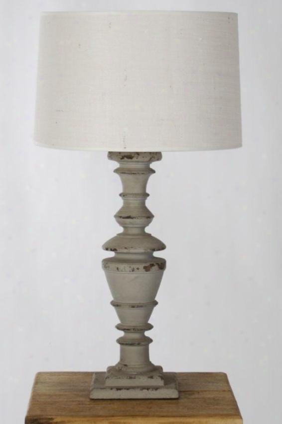 Sierra Table Lamp Iii - 29hx7wx7d, Gray