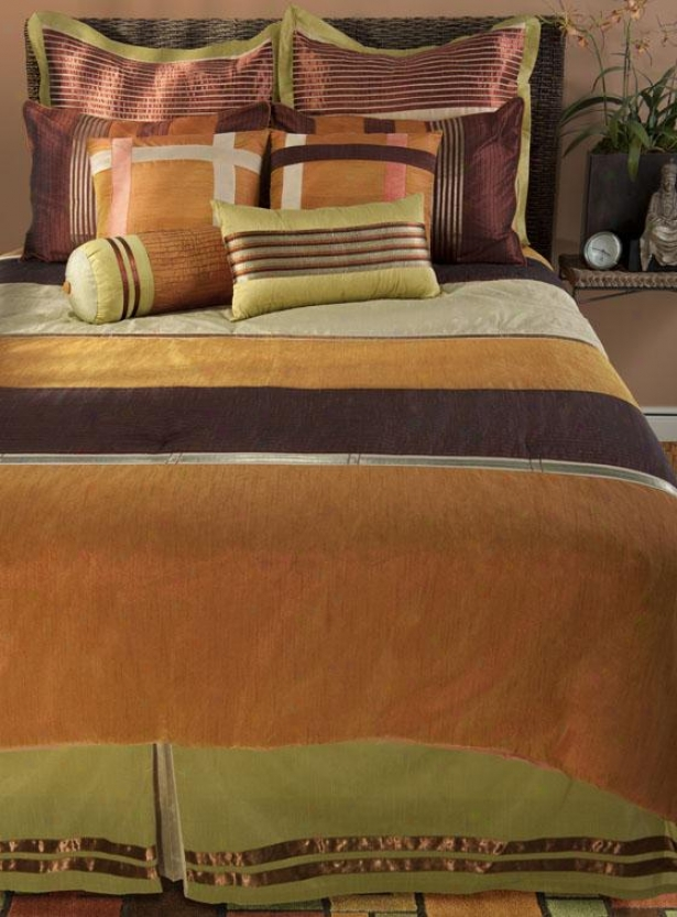 Siesta Bedding Set - King 11pc Set, Orange Multi