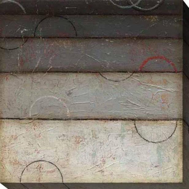 Silver Spectrum Ii Canvas Wall A5t - Ii, Gray