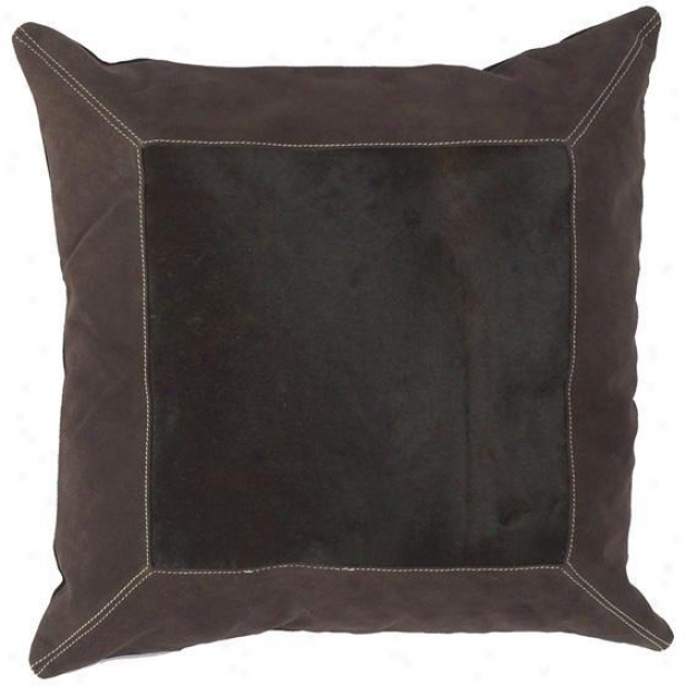 """single Square Pillows - Set Of 2 - 18""""x18"""", Espresso/chclt"""
