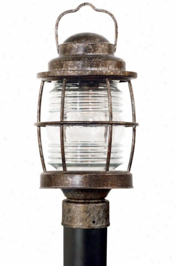 """siren Outdoor Post Lantern - 18""""h, Orange"""