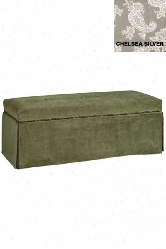 Skiirted Bench With Nailhead Tfim; Home Decor Benches